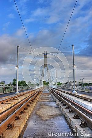 Luas station in Dublin Ireland