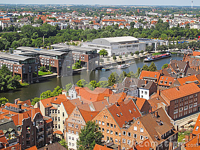 Lubeck from above