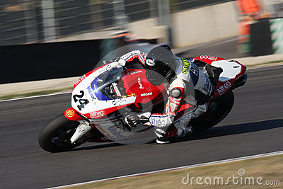 Luca Conforti - Ducati 1198R - Althea Racing Editorial Stock Photo