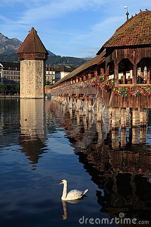 Lucerne Chapel bridge in Switzerland