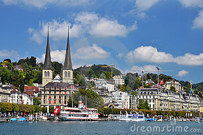 Lucerne or Luzern city in Switzerland