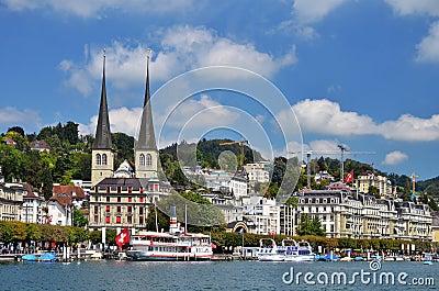 Lucerne or Luzern city in Switzerland