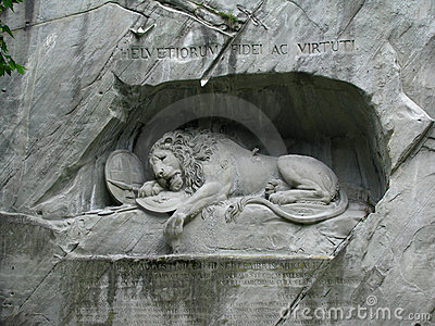 Lucerne s Lion Monument, Switzerland