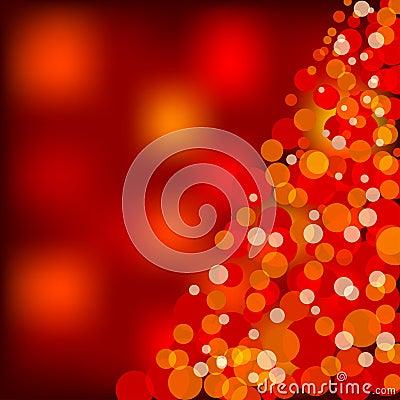 Luces de la Navidad rojas