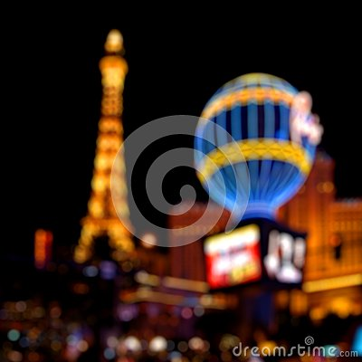 Luces de Las Vegas Foto editorial