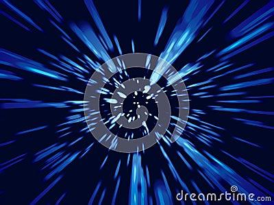 Luces del zoom de la velocidad