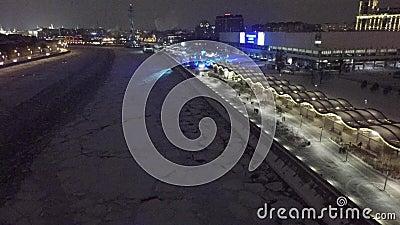 Lucht mooie de helikopterhommel van Moskou 4k stock footage