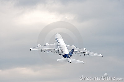 Luchtbus A380 Redactionele Stock Afbeelding