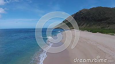 Luchtmening: Het Strand van Hawaï stock video