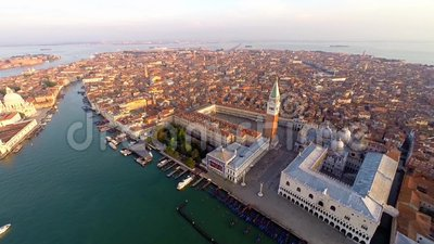 Luchtmening van Venetië stock videobeelden