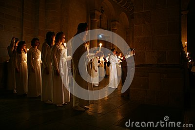 Lucia Festival In Sweden Stock Images - Image: 28039794