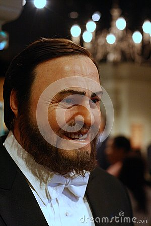 Luciano Pavarotti wax figure Editorial Stock Image
