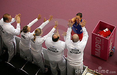 Lucie Hradecka - Fed Cup 2010 Editorial Photo