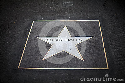 Lucio dalla star Editorial Photo