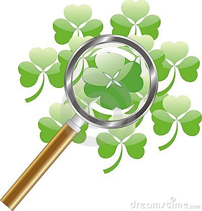 Luck search -  four leaf of clover