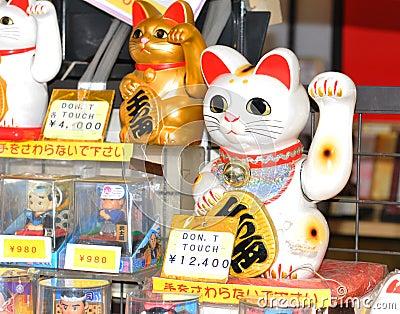 Lucky cat Editorial Stock Photo