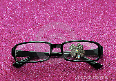 Lucky Glover Rhinestone Behind Eye Glasses
