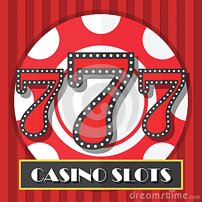 Free Lucky Seven Casino Slot Machine Background, Icon Royalty Free Stock Photo - 48368155
