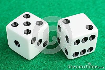 Lucky seven dice gambling concept