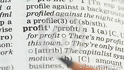 Lucro, definição no vocabulário inglês, instrução financeira, planeamento da renda filme