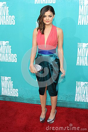 Lucy Hale at the 2012 MTV Movie Awards Arrivals, Gibson Amphitheater, Universal City, CA 06-03-12 Editorial Stock Image