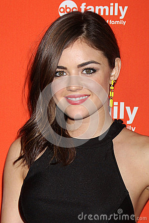 Lucy Hale arrives at the ABC Family West Coast Upfronts Editorial Photography