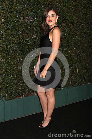 Lucy Hale arrives at the ABC Family West Coast Upfronts Editorial Stock Image