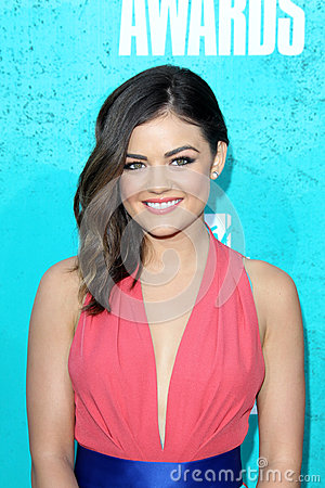 Lucy Hale arriving at the 2012 MTV Movie Awards Editorial Stock Photo