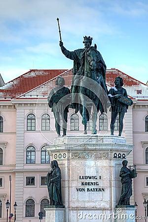 Ludwig I statue Munich Germany