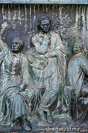 Ludwig Van Beethoven statue.
