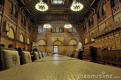 Luebeck, Town Hall, Conference Room Editorial Image