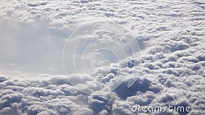 Luftaufnahme der Wolken Wirbelsturm gesehen vom Flugzeug Klima-und Wetter-Änderungs-Konzept stock video