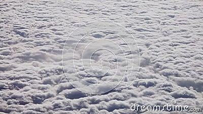 Luftaufnahme der Wolken Wirbelsturm gesehen vom Flugzeug Klima-und Wetter-Änderungs-Konzept stock video footage