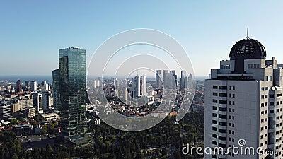 Luftaufnahmen des Bezirks Zincirlikuyu in Istanbul, Türkei stock video