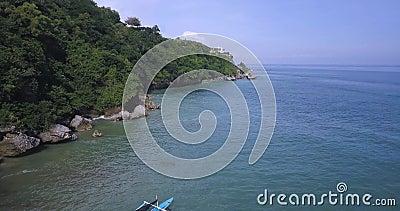 Luftbild der Banca-Boote stock video footage