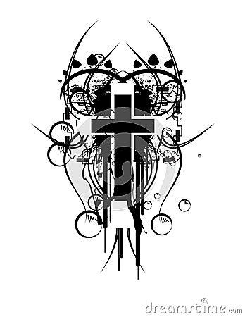 Luftblasen-Kreuz