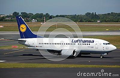 Lufthansa 737 Editorial Photo
