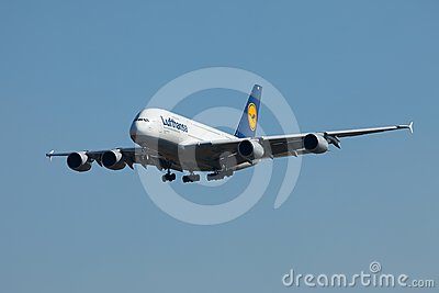 Lufthansa A380 Editorial Stock Image