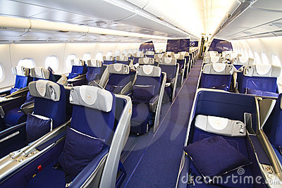 Lufthansa A380 Business class Editorial Stock Image