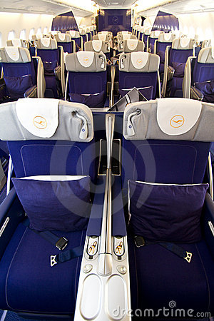 Lufthansa A380 Business class 3 Editorial Stock Photo