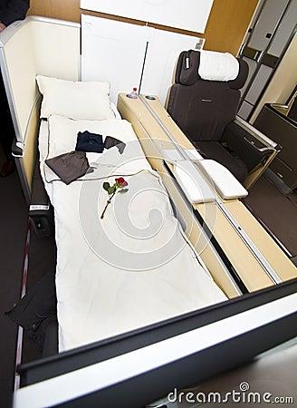 Lufthansa A380 First Class Editorial Photography