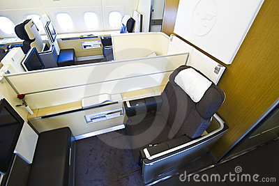 Lufthansa A380 First Class with rose Editorial Image