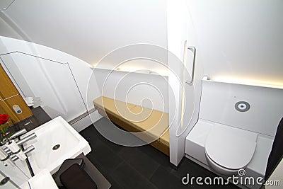 Lufthansa A380 toilet