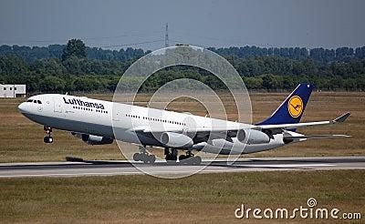 Lufthansa Airbus 340 Editorial Image