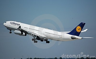 Lufthansa Airbus 340 Editorial Stock Image