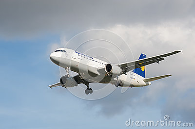 Lufthansa Airbus A320 Editorial Stock Photo