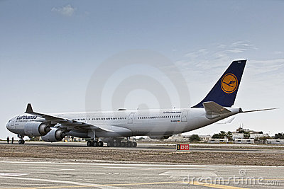 Lufthansa Airbus A340 D-AIHO Editorial Stock Image