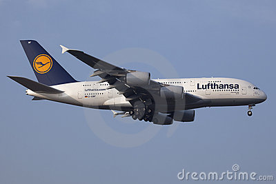 Lufthansa Airbus A380 Image éditorial