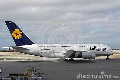 Lufthansa Airbus A380 Editorial Image