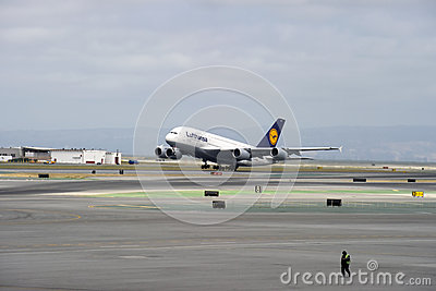 Lufthansa Airbus A380 Editorial Photography